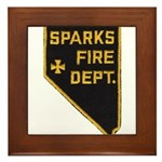 Sparks Nevada Fire Department Framed Tile
