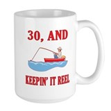30 And Keepin' It Reel Tasse