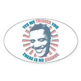 Nobama change Decal