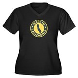 Made in California Women's Plus Size V-Neck Dark T