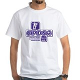 CPDSA NYC Men's White t-shirt with purple logo