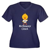 McSteamy Chick Women's Plus Size V-Neck Dark T-Shi