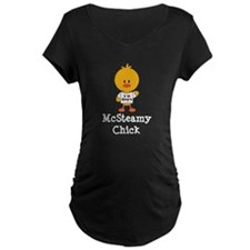 McSteamy Chick Maternity Dark T-Shirt
