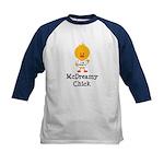 McDreamy Chick Kids Baseball Jersey