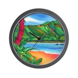 Diamond Head, Oahu Wall Clock
