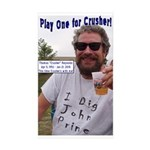 Play One For Crusher Sticker (Rectangle 50 pk)