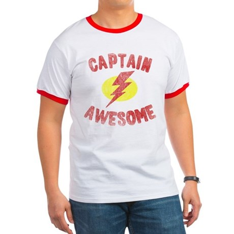 Captain Awesome Ringer T