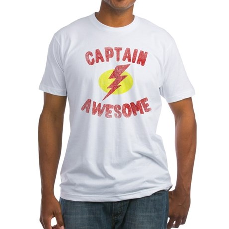 Captain Awesome Fitted T-Shirt