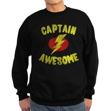 Captain Awesome Dark Sweatshirt