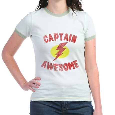 Captain Awesome Jr Ringer T-Shirt
