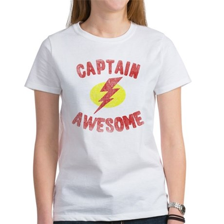 Captain Awesome Womens T-Shirt
