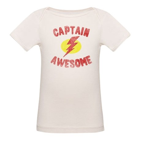 Captain Awesome Organic Baby T-Shirt