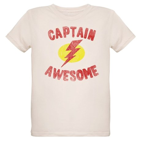 Captain Awesome Organic Kids T-Shirt
