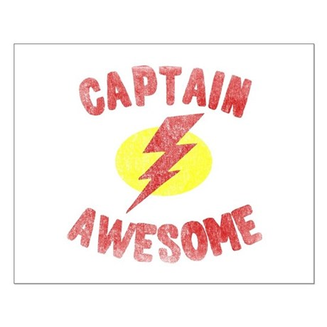 Captain Awesome Small Poster
