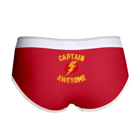 Captain Awesome Womens Boy Brief