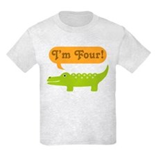 Alligator 4th Birthday T-Shirt