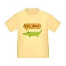 Alligator 3rd Birthday T