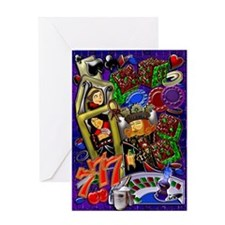 Greeting Card Royal Heart Flush, Casino Art