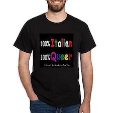 100% Italian 100% Queer Black T-Shirt