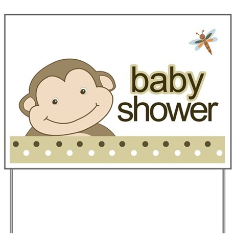 baby gifts baby yard signs baby shower yard sign monkey brown