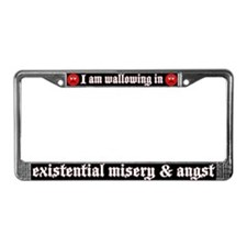 Existential Misery License Plate Frame