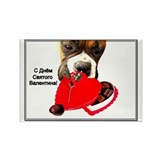 Russian Valentine's Day Boxer Rectangle Magnet