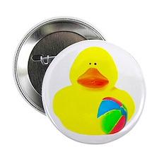 """Ball Player Rubber Duck 2.25"""" Button"""