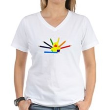 Colorful Duck with rainbow pencils Shirt
