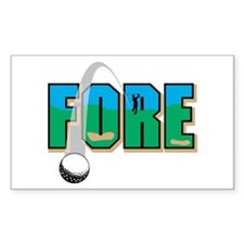 Fore! Rectangle Decal