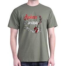 Rockstar Grandpa T-Shirt