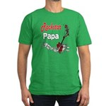 Rockstar Papa Men's Fitted T-Shirt (dark)
