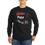 Rockstar Papa Long Sleeve Dark T-Shirt