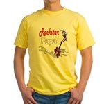 Rockstar Papa Yellow T-Shirt