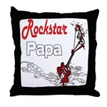 Rockstar Papa Throw Pillow