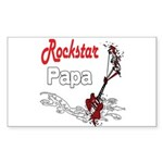 Rockstar Papa Sticker (Rectangle)