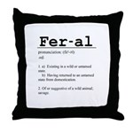 Feral Definition Throw Pillow