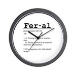 Feral Definition Wall Clock