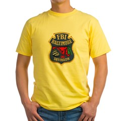 FBI Baltimore Division Yellow T-Shirt