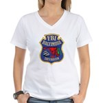 FBI Baltimore Division Women's V-Neck T-Shirt