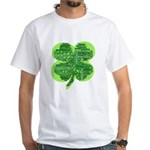Giant Shamrock Happy Birthday White T-Shirt