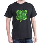 Giant Shamrock Happy Birthday Dark T-Shirt
