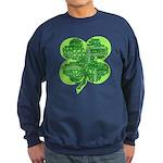 Giant Shamrock Happy Birthday Sweatshirt (dark)