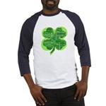 Giant Shamrock Happy Birthday Baseball Jersey