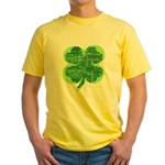 Giant Shamrock Happy Birthday Yellow T-Shirt