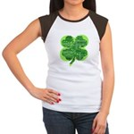 Giant Shamrock Happy Birthday Women's Cap Sleeve T