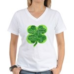 Giant Shamrock Happy Birthday Women's V-Neck T-Shi