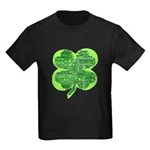 Giant Shamrock Happy Birthday Kids Dark T-Shirt