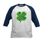 Giant Shamrock Happy Birthday Kids Baseball Jersey
