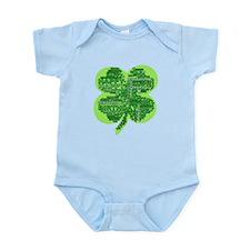 Giant Shamrock Happy Birthday Infant Bodysuit