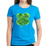 Giant Shamrock Happy Birthday Women's Dark T-Shirt